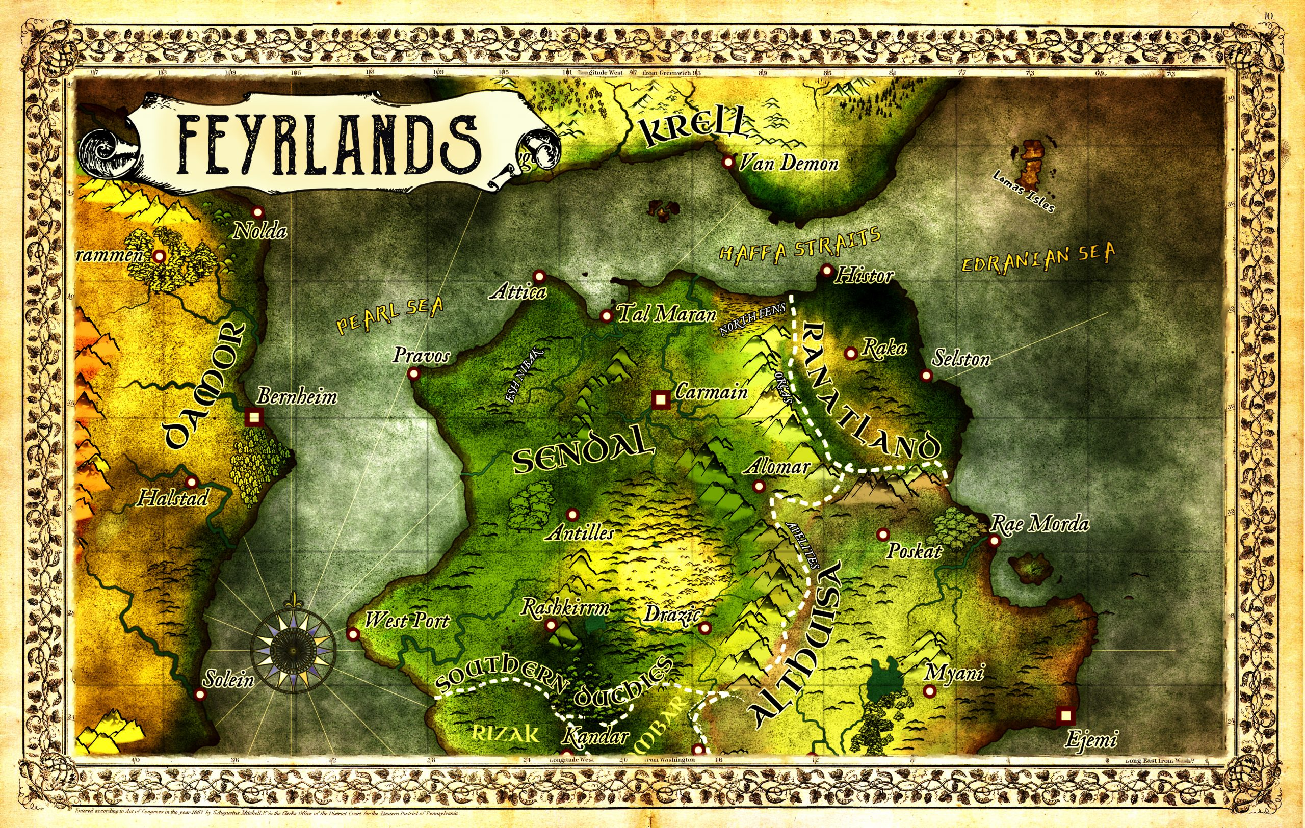 Feyrlands Map